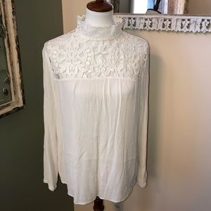 Tops - Lace Mock Neck